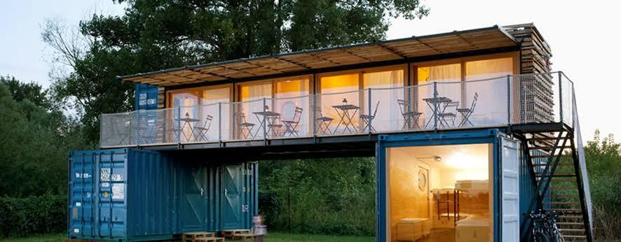 Rumah kontainer 2 lantai