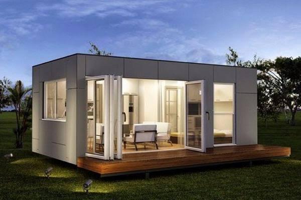 Rumah kontainer modern