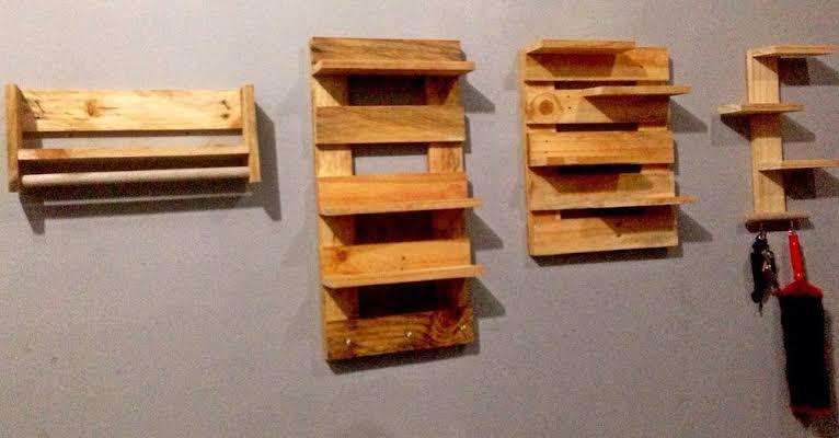 rak dinding kayu palet